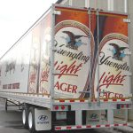D.G. Yuengling & Son's semi-truck trailer advertising the light version of Yuengling Lager