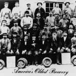 David G. Yuengling, his sons, and the Eagle Brewery workers, ca. 1873