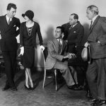 Florenz Ziegfeld with actors Jack Donahue and Marilyn Miller, composer George Gershwin and Sigmund Romberg