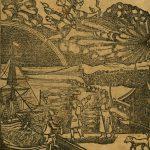 """Frontispiece from Christoph Sauer's 1747 """"Hochdeutsch Americanische Calender"""""""