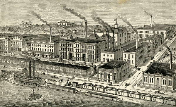 Eberhard Anheuser and Adolphus Busch's Bavarian Brewery, ca. 1878