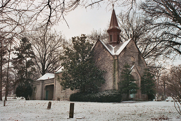 The Vine Street Hill Cemetery (German Evangelical Protestant Cemetery) Chapel, Cincinnati, Ohio, n.d.