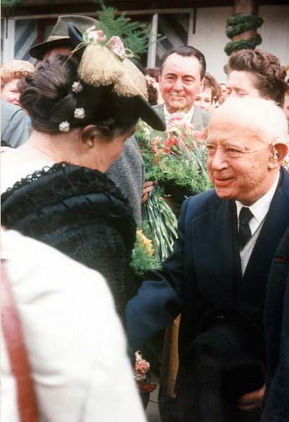 Hermann Schülein at an Oktoberfest celebration in Munich