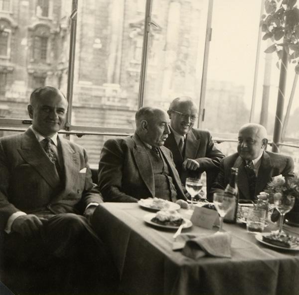Hermann Schülein during a visit to Munich.