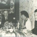 Helen Wolff and Kurt Wolff at Dinner