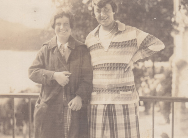 Luise Schuelein and her daughter Annemarie Schuelein at Eibsee
