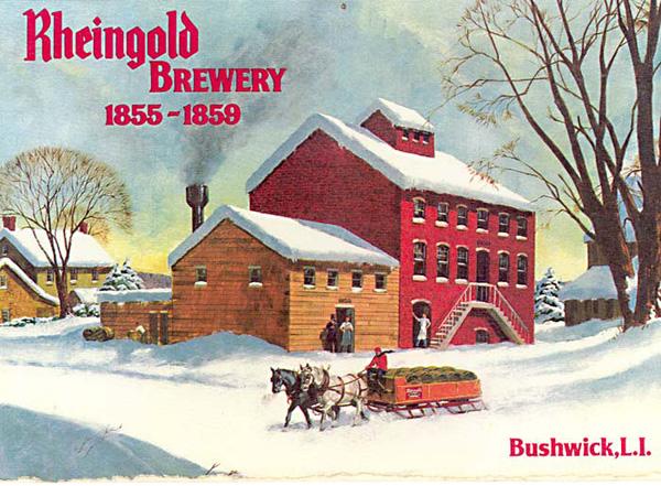 Rheingold Brewery postcard