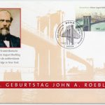 German commemorative stamp for the 200-year anniversary of Johann August Roebling's birth