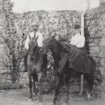 John Philip and Jane Sousa on horseback, ca. 1902