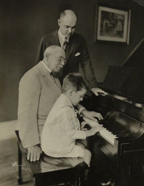 John Philip Sousa with son John Philip Sousa, Jr. and grandson John Philip Sousa, III, date unknown