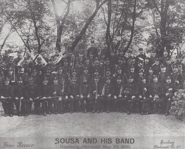 John Philip Sousa and his band in Hamburg, Germany, 1900