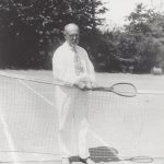 John Philip Sousa at tennis, ca. 1916