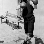 John Philip Sousa in a boxing pose, ca. 1899