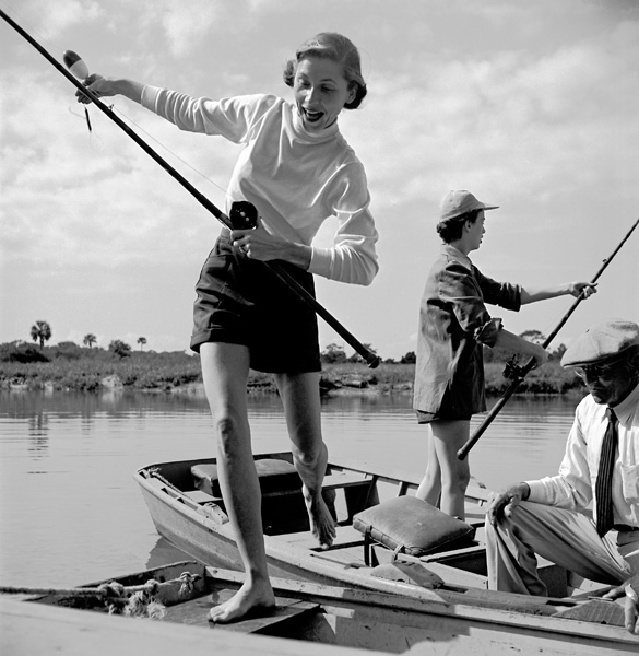 Two models in sail wear by White Stag, 1950