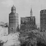 New York City Hall and 'Newspaper Row,' January 1889