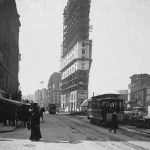 Times Building under Construction in Times Square, New York City, January 1, 1904