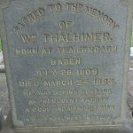 Grave of William Thalhimer at the Hebrew Cemetery, Richmond, Virginia