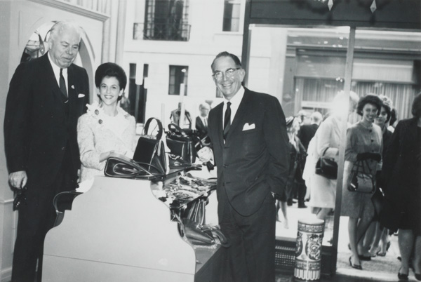 William B. Thalhimer Jr., Alexander Parker, and Ellen Janus  attending Thalhimer Career Shop Opening, n.d.