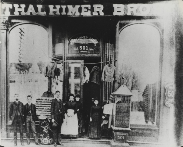Thalhimer Brothers store at 501 Broad Street, Richmond, Virginia, 1881