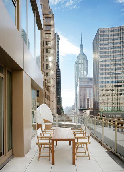 Andaz 5th Avenue, Terrace Suite Balcony, New York, NY