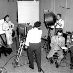 WFIL-TV employees film a program, late 1940s