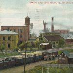 Wayne Knitting Mills and Railway Tracks, 1908