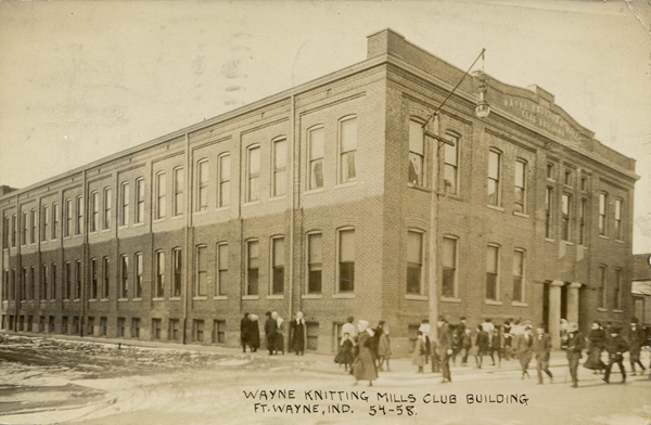 Postcard of the Wayne Knitting Mills Clubhouse, 1911