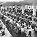 Photograph of the Wayne Knitting Mills Sewing Room, 1930