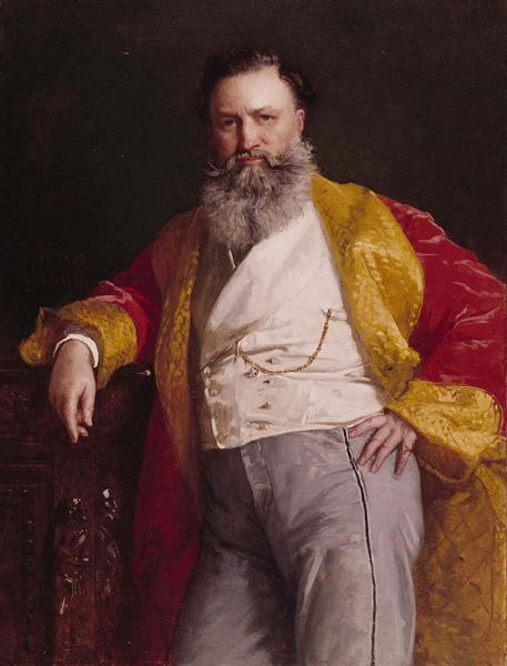 Portrait of Isaac Merritt Singer by artist Edward Harrison May, 1869