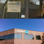 LinkedIn office signage 2006 and 2012