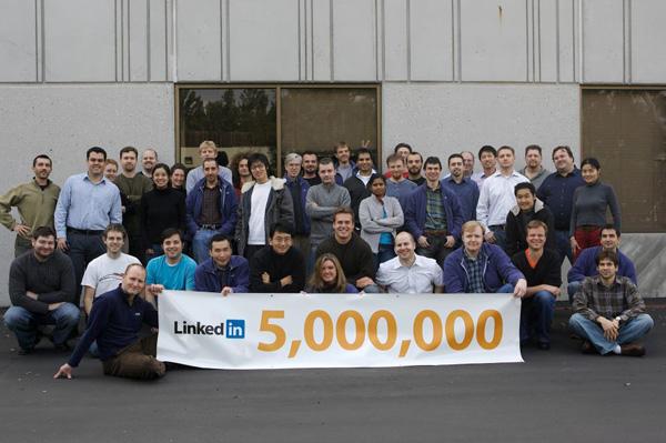 LinkedIn's 5 million member milestone