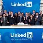 LinkedIn executives ringing the opening bell at the New York Stock Exchange on May 19, 2011