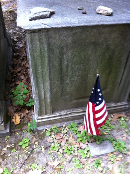 Detail of Michael Gratz tomb in Mikveh Israel Cemetary, Eighth and Spruce Streets, Philadelphia, PA