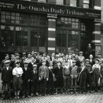 Omaha Daily Tribune staff at main office in Omaha, post 1917