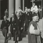Val J. Peter at Knight of St. Gregory Ceremony, May 1950