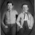 Isidor and Oscar Straus, ca. 1858-1860