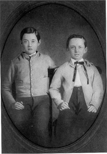 Isidor and Oscar Straus, ca. 1858-1860