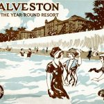 Galveston advertising brochure produced by the Santa Fe Railroad Company, ca. 1910