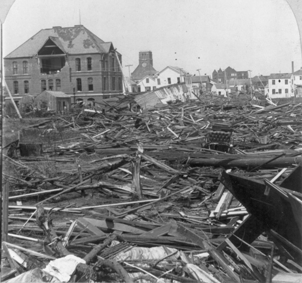Ursuline Academy in Galveston, Texas, after the hurricane and flood of Sept. 8-9, 1900