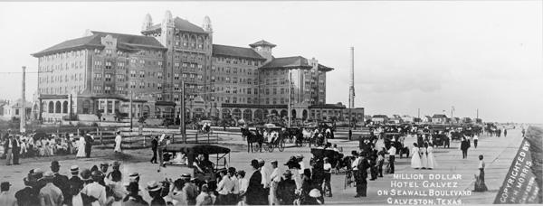 Hotel Galvez on Seawall Boulevard, Galveston, Texas, ca. 1911