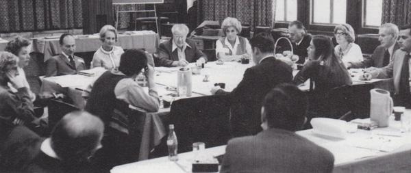 First <em>Cricket</em> editorial board meeting, November 1972