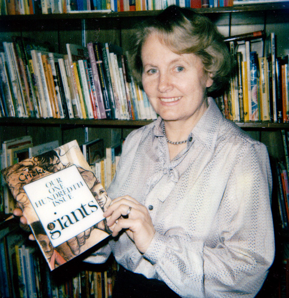 Marianne Carus with the one hundredth issue of <em>Cricket</em> magazine, March 1982