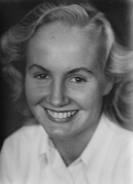 Marianne Carus as a new student at the University of Freiburg, Germany, November 1949