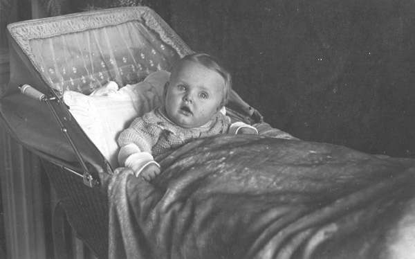 Marianne Carus as a baby, 1929