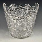 Straus Cut Glass Ice Bucket