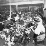 Assembly-line production in a Teddy Bear Factory, 1915