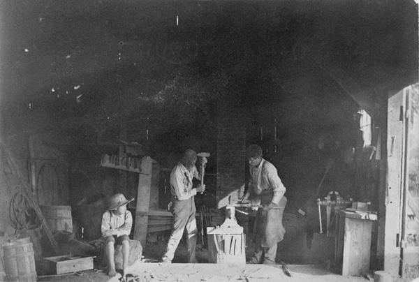 Blacksmith shop, probably Ohio, ca. 1897