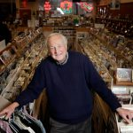 Chris Strachwitz, founder and guiding spirit of Arhoolie records, at his Down Home Music store in Richmond, California on January 13, 2011