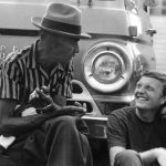 Texas Bluesman Mance Lipscomb with Chris Strachwitz, 1960