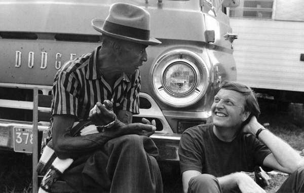 Texas Bluesman Mance Lipscomb with Chris Strachwitz, 1960